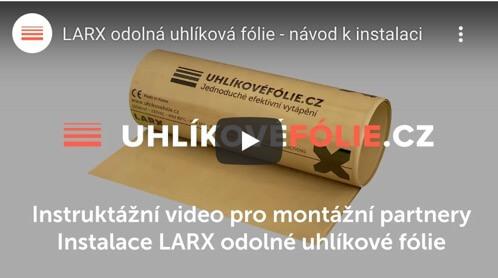 Inštalácia LARX odolnej uhlíkovej fólie 150W/m²